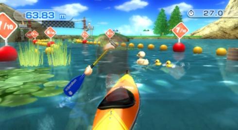 Wii Sports Resort Canoeing