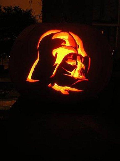 Darth Vader Jack-o-Lantern